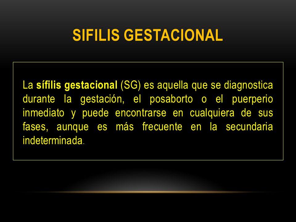 SIFILIS GESTACIONAL