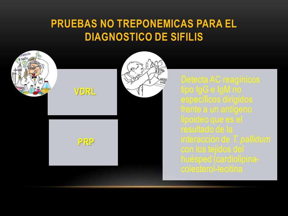 Pruebas NO treponemicas para el diagnostico de sifilis