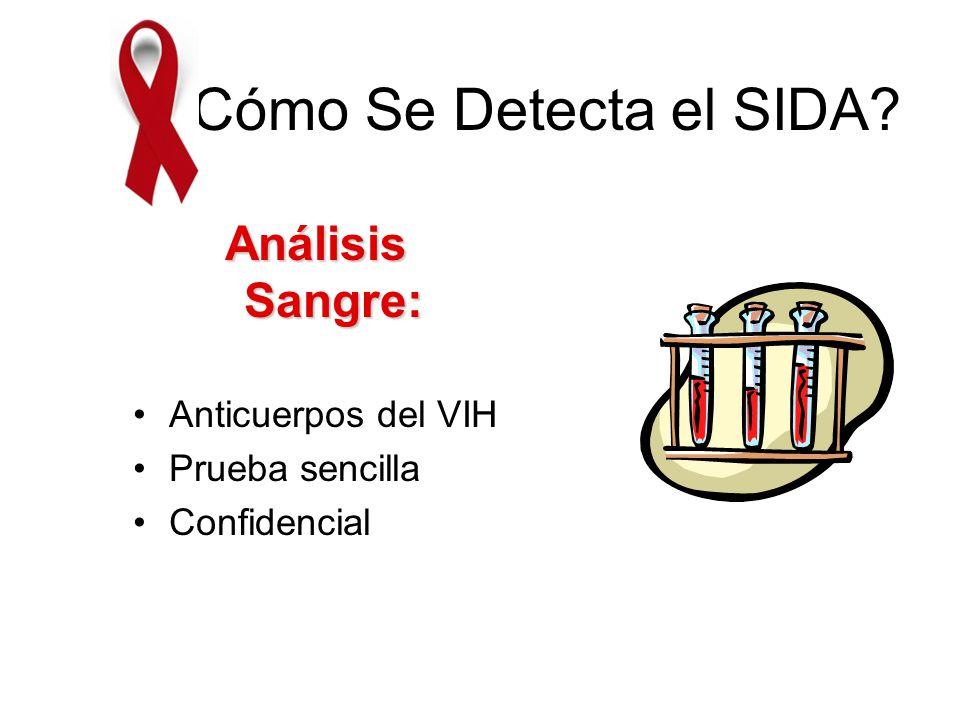 ¿Cómo Se Detecta el SIDA