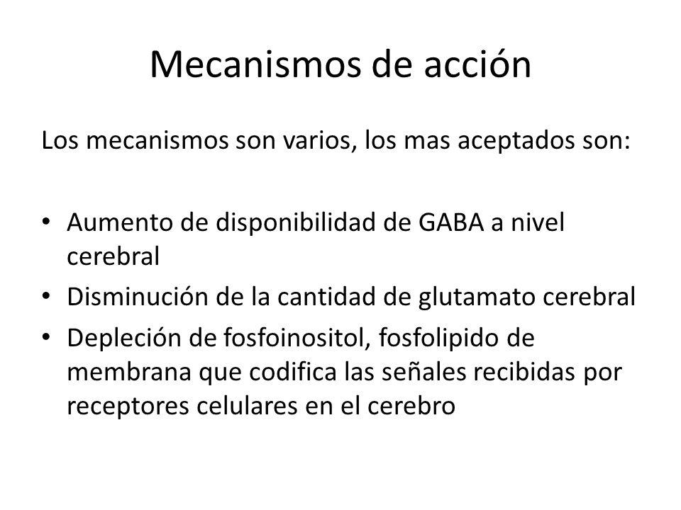 Mecanismos de acción Los mecanismos son varios, los mas aceptados son: