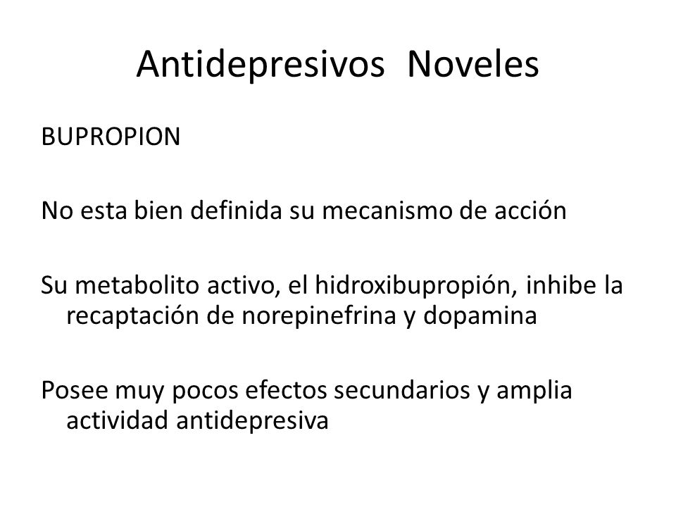 Antidepresivos Noveles
