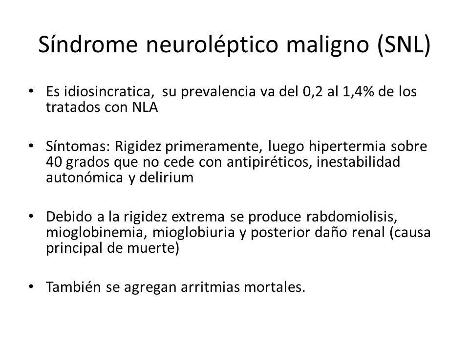 Síndrome neuroléptico maligno (SNL)