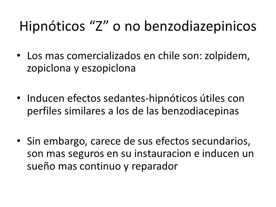 Hipnóticos Z o no benzodiazepinicos