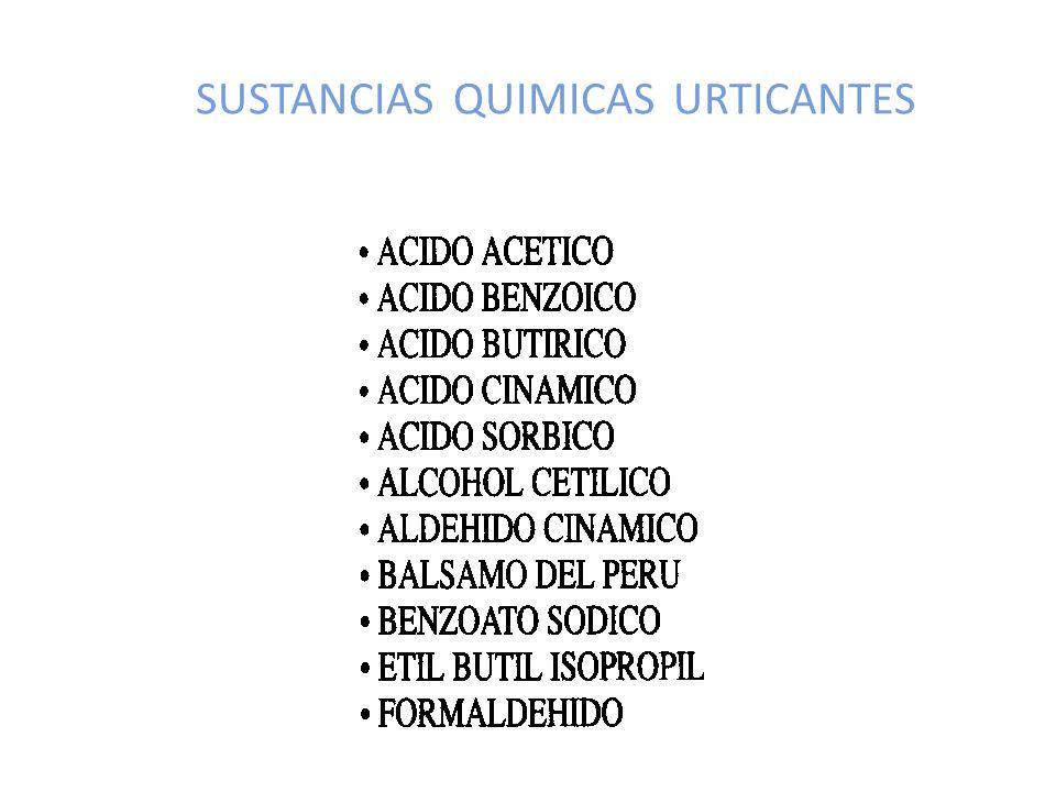 SUSTANCIAS QUIMICAS URTICANTES