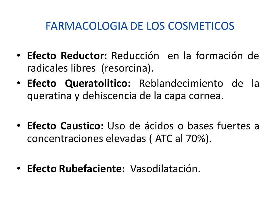 FARMACOLOGIA DE LOS COSMETICOS