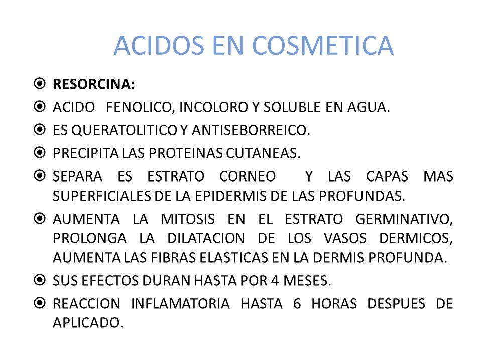 ACIDOS EN COSMETICA RESORCINA: