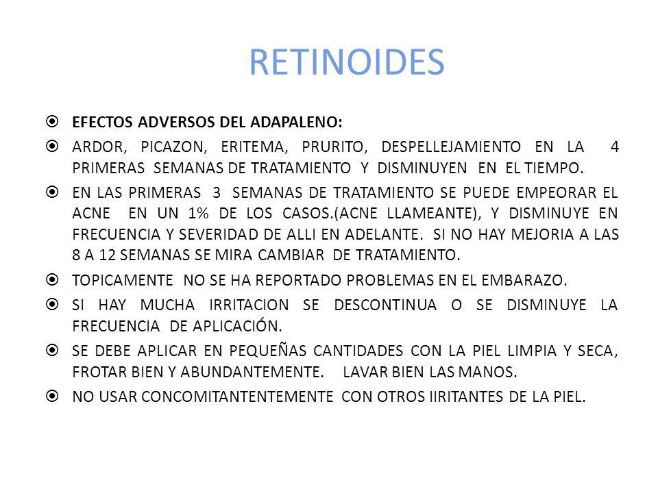 RETINOIDES EFECTOS ADVERSOS DEL ADAPALENO: