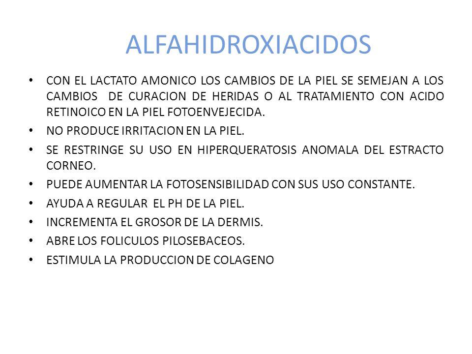 ALFAHIDROXIACIDOS