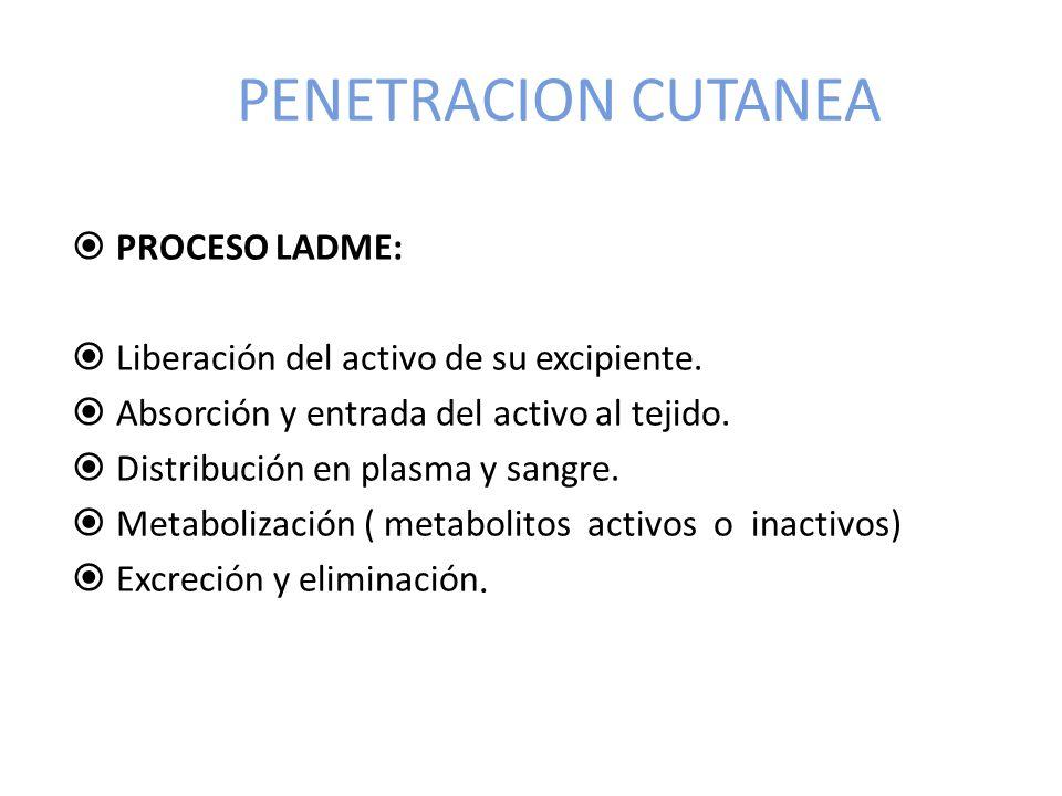 PENETRACION CUTANEA PROCESO LADME: