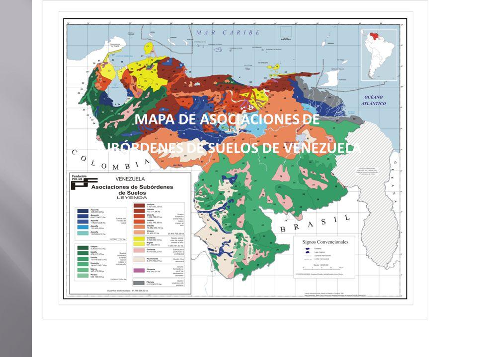 MAPA DE ASOCIACIONES DE SUBÓRDENES DE SUELOS DE VENEZUELA