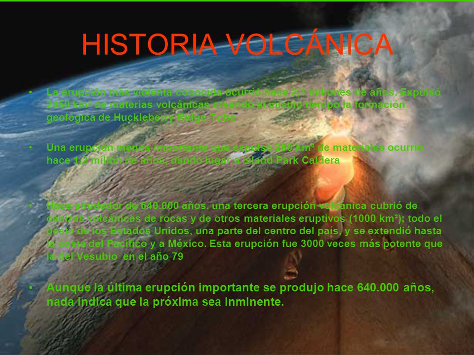 HISTORIA VOLCÁNICA