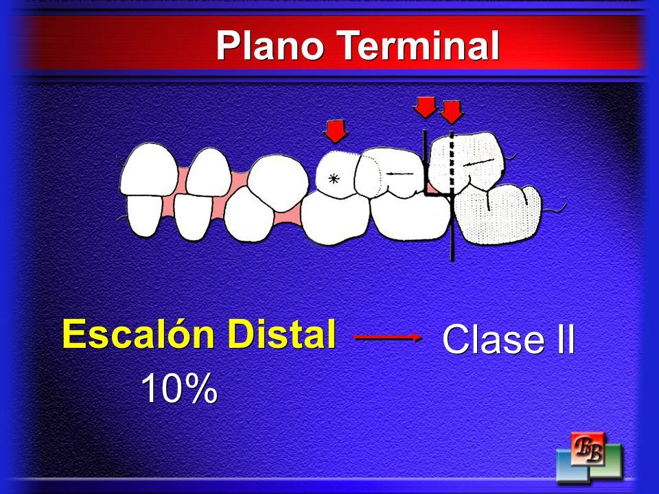 Plano Terminal 10% Escalón Distal Clase II