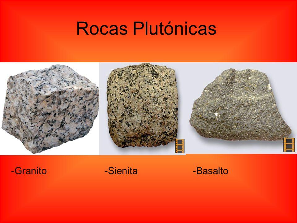 Rocas Plutónicas -Granito -Sienita -Basalto