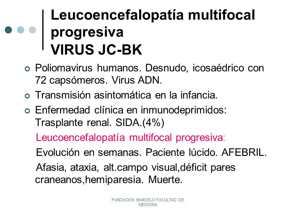 Leucoencefalopatía multifocal progresiva VIRUS JC-BK
