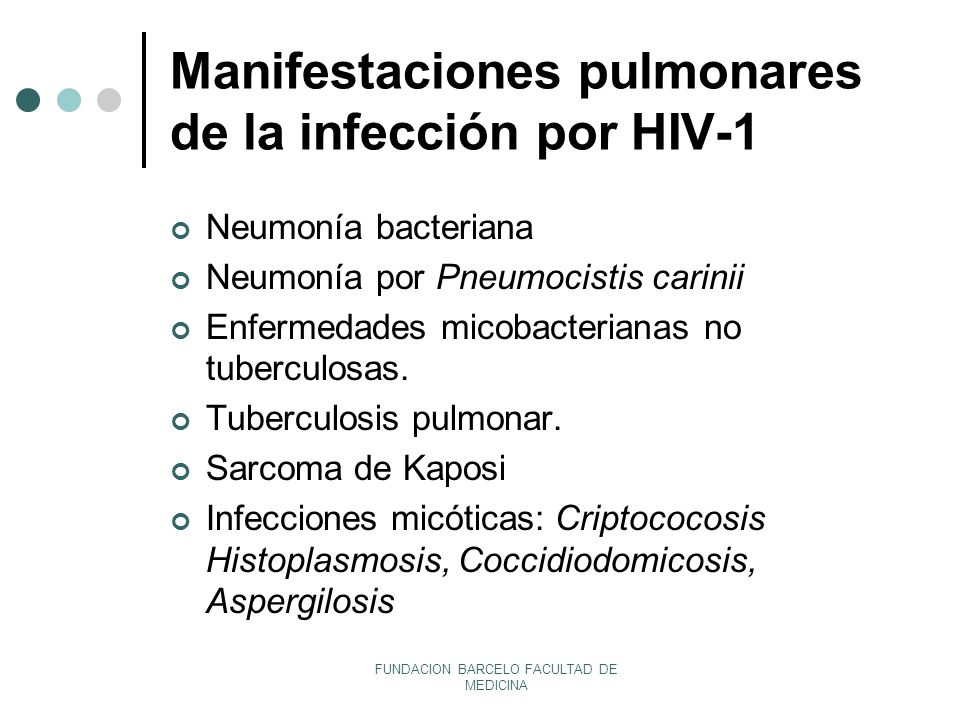 Manifestaciones pulmonares de la infección por HIV-1