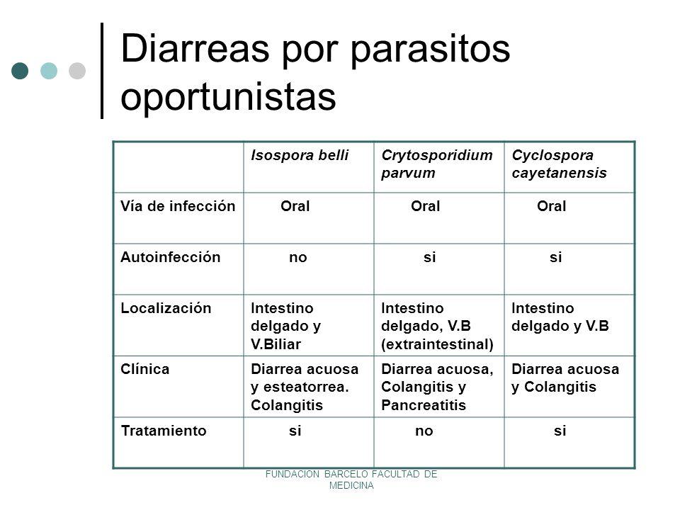Diarreas por parasitos oportunistas