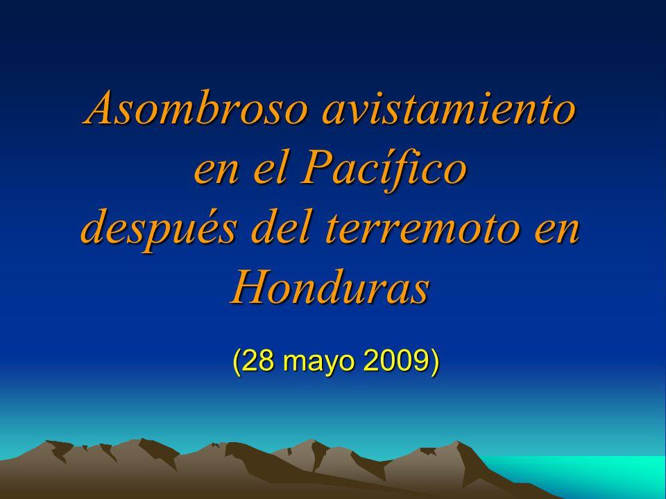Asombroso avistamiento en el Pacífico después del terremoto en Honduras