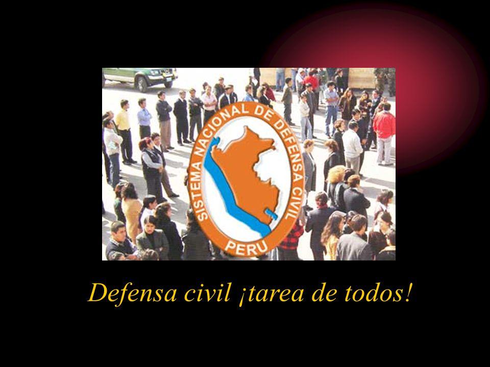Defensa civil ¡tarea de todos!