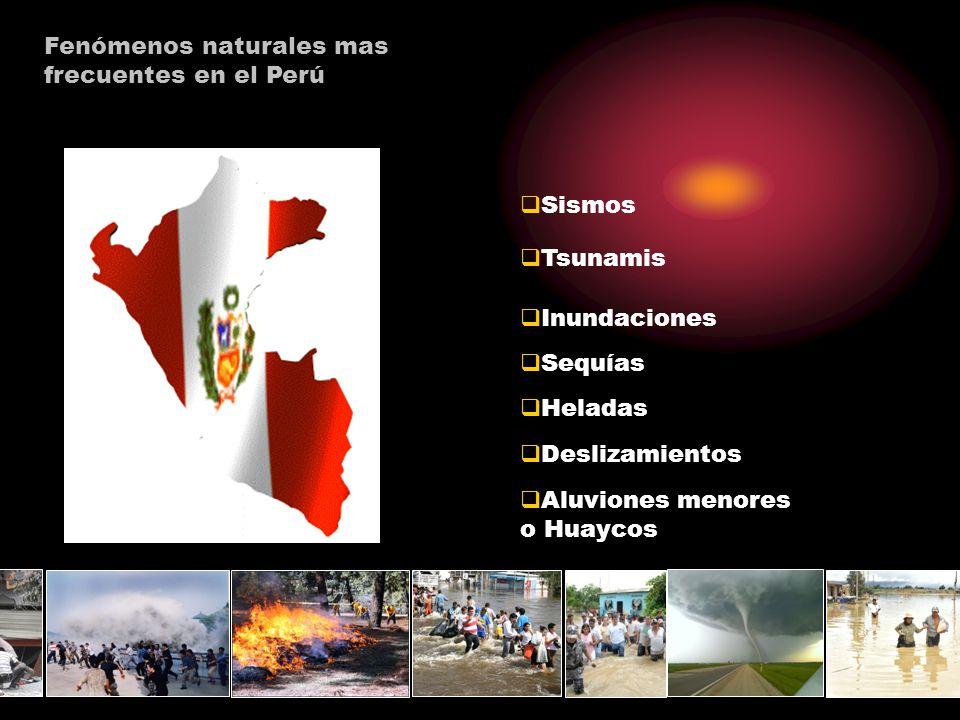 Fenómenos naturales mas frecuentes en el Perú