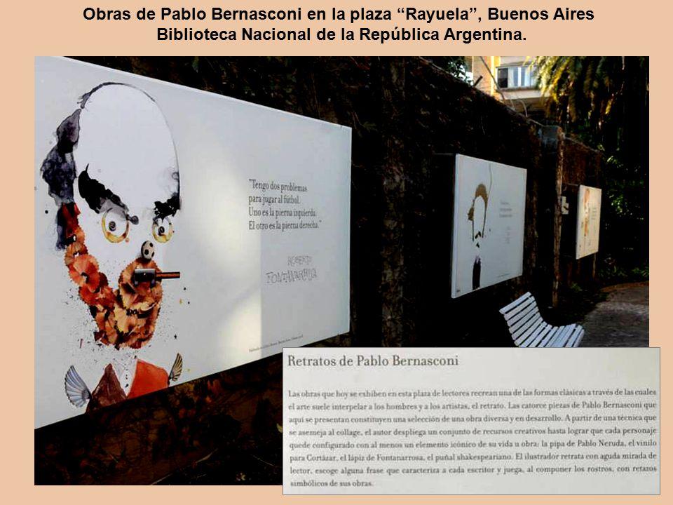 Obras de Pablo Bernasconi en la plaza Rayuela , Buenos Aires Biblioteca Nacional de la República Argentina.