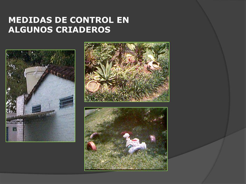 MEDIDAS DE CONTROL EN ALGUNOS CRIADEROS