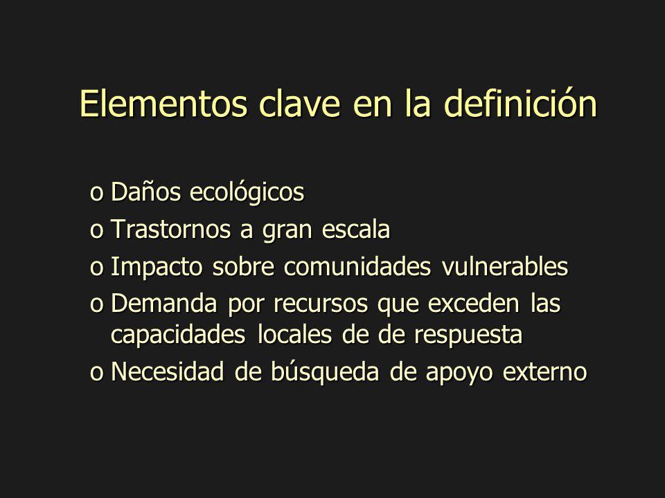 Elementos clave en la definición
