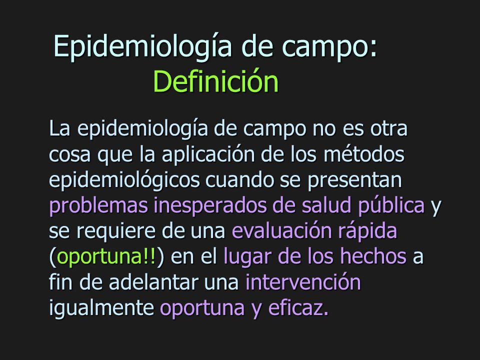 Epidemiología de campo: Definición