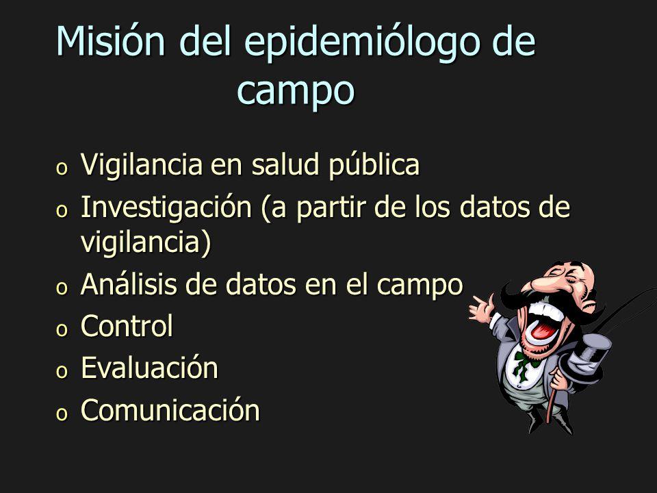 Misión del epidemiólogo de campo
