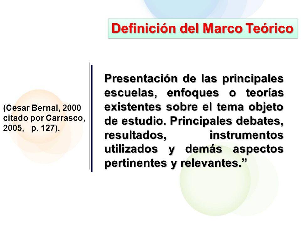 Definición del Marco Teórico