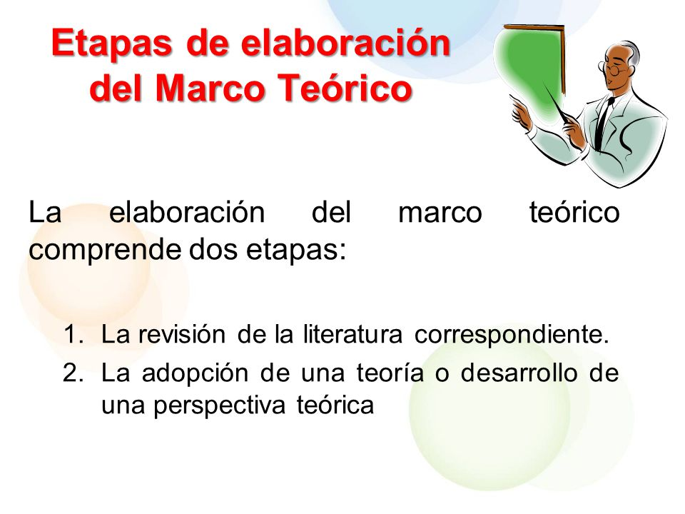 Etapas de elaboración del Marco Teórico