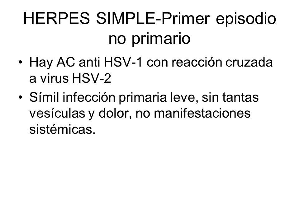 HERPES SIMPLE-Primer episodio no primario