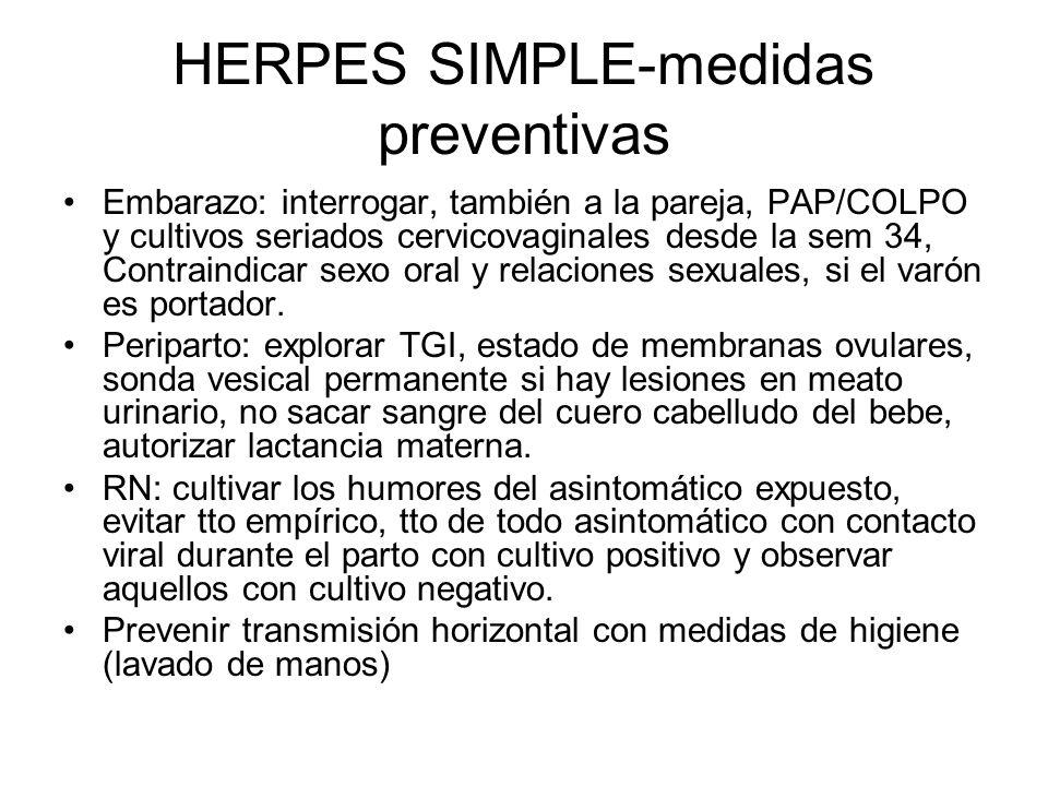 HERPES SIMPLE-medidas preventivas