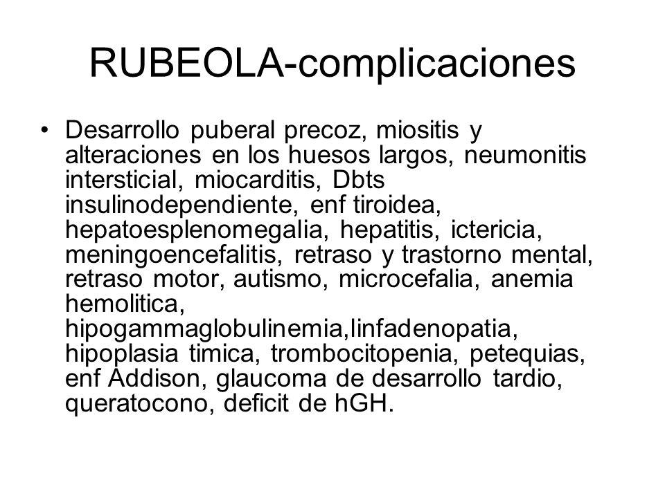 RUBEOLA-complicaciones