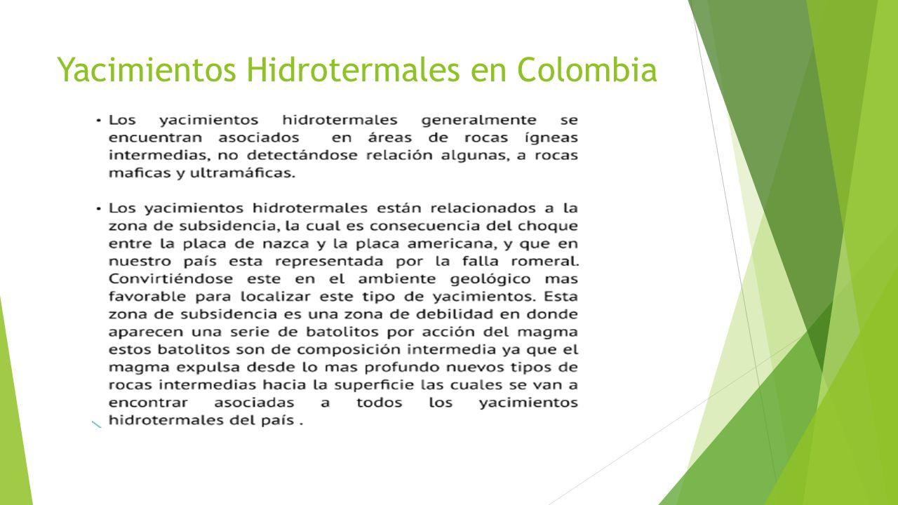 Yacimientos Hidrotermales en Colombia