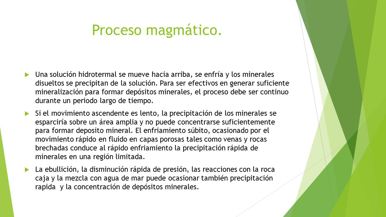 Proceso magmático.