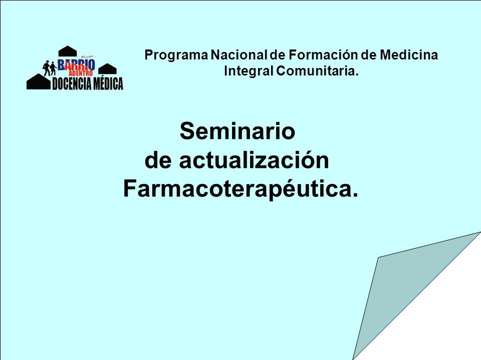Programa Nacional de Formación de Medicina Integral Comunitaria.