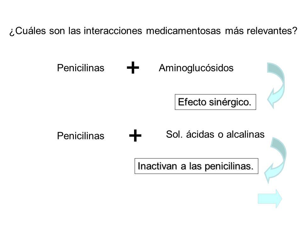   ¿Cuáles son las interacciones medicamentosas más relevantes