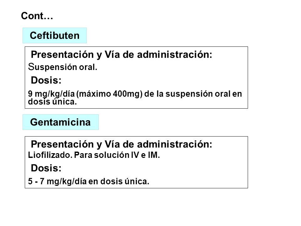 Ceftibuten Gentamicina