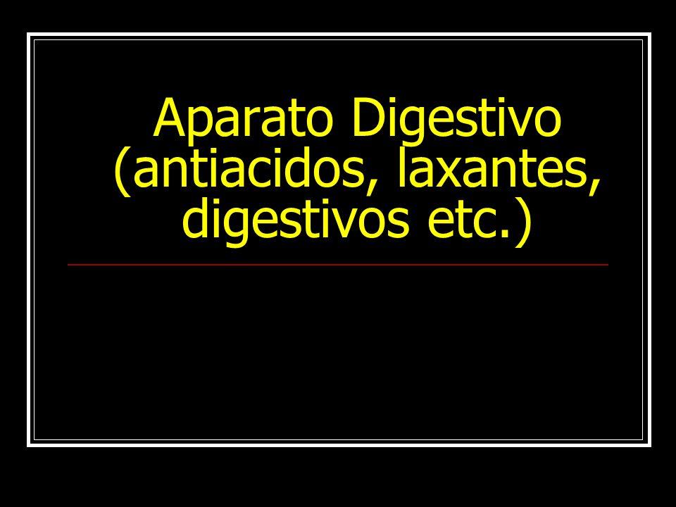 Aparato Digestivo (antiacidos, laxantes, digestivos etc.)