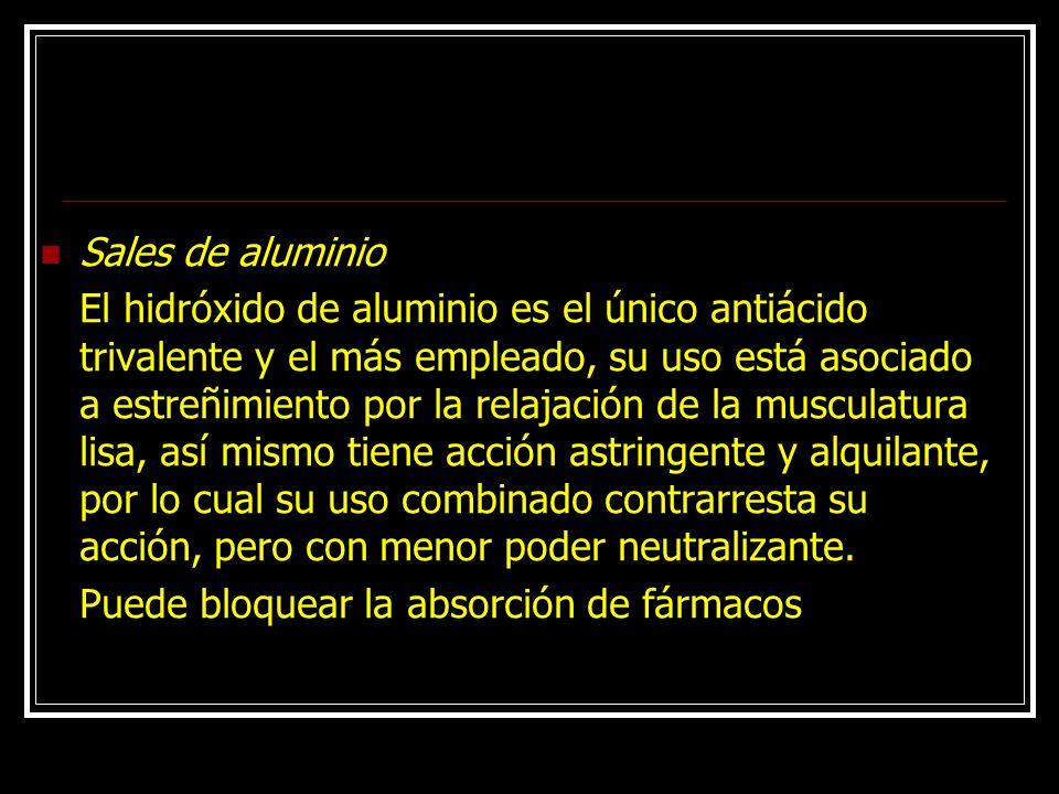 Sales de aluminio