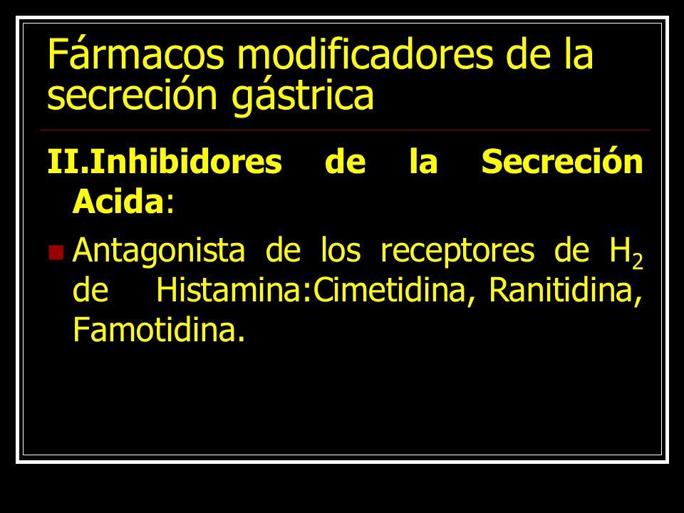 Fármacos modificadores de la secreción gástrica