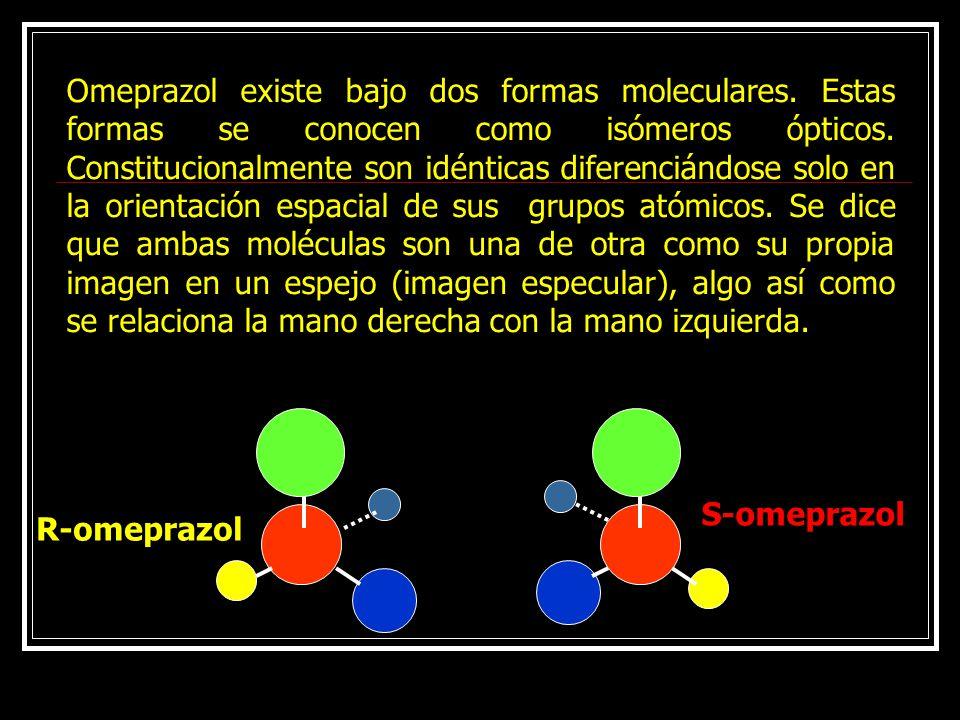 Omeprazol existe bajo dos formas moleculares