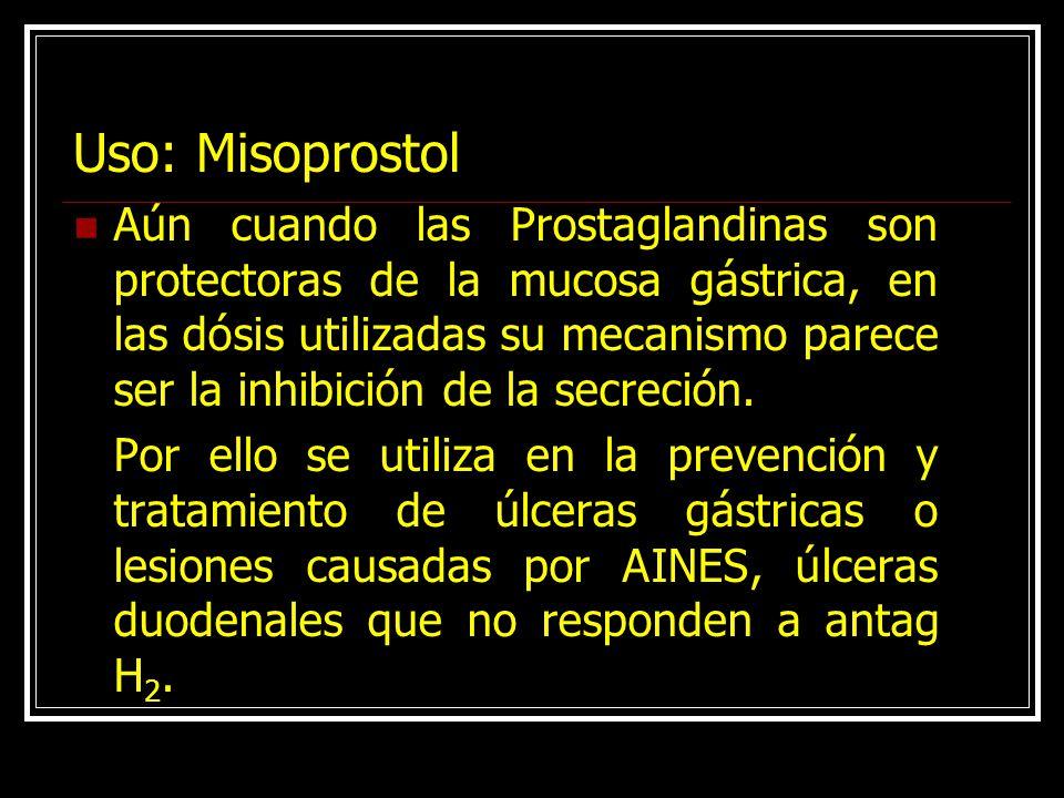 Uso: Misoprostol