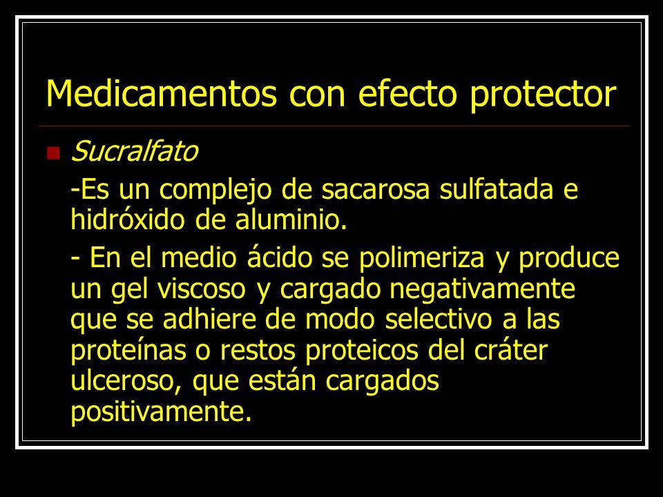 Medicamentos con efecto protector