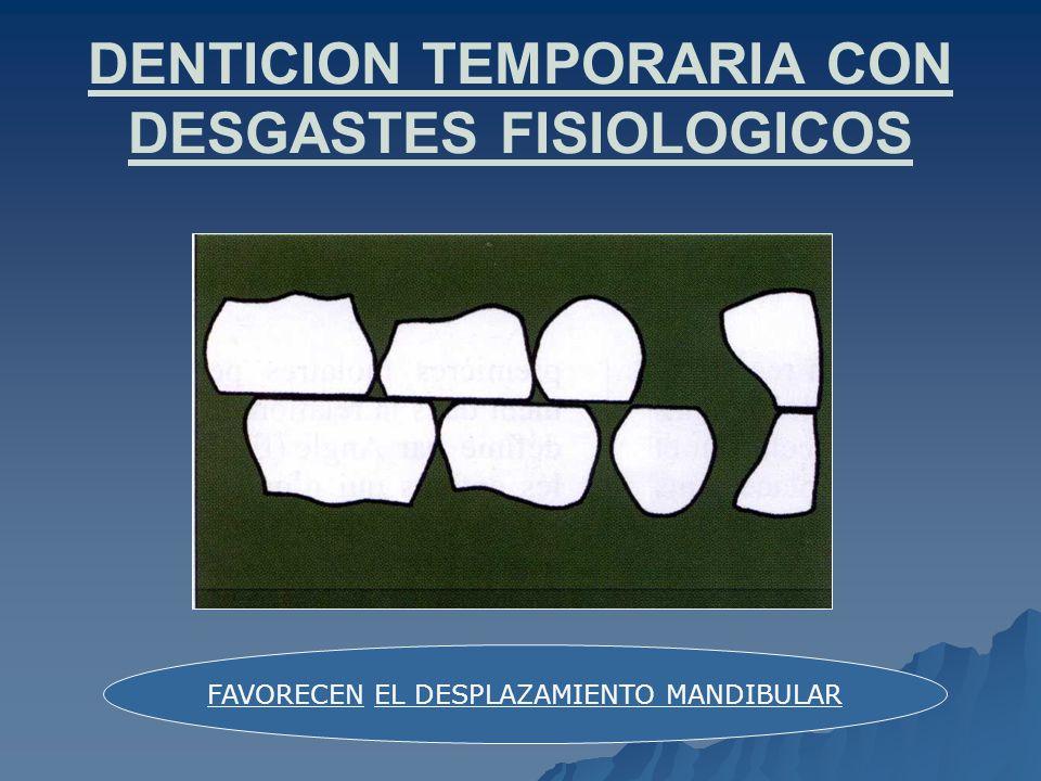 DENTICION TEMPORARIA CON DESGASTES FISIOLOGICOS