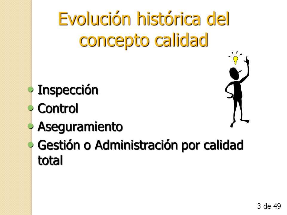 Evolución histórica del concepto calidad
