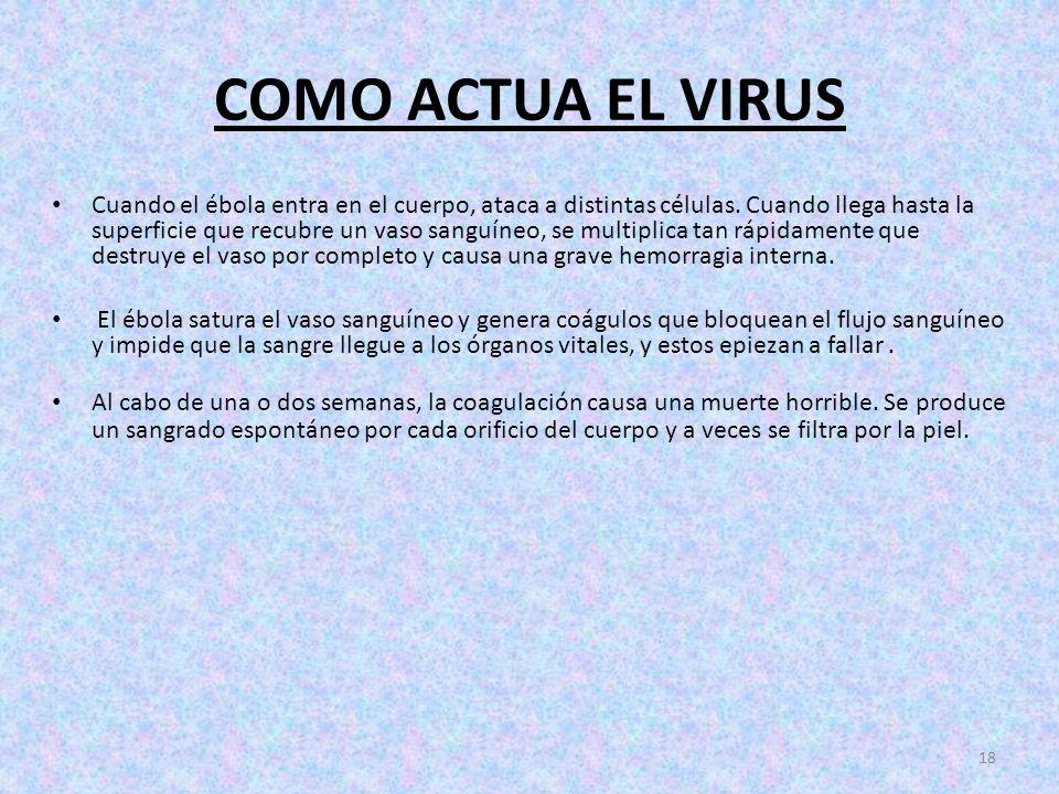 COMO ACTUA EL VIRUS
