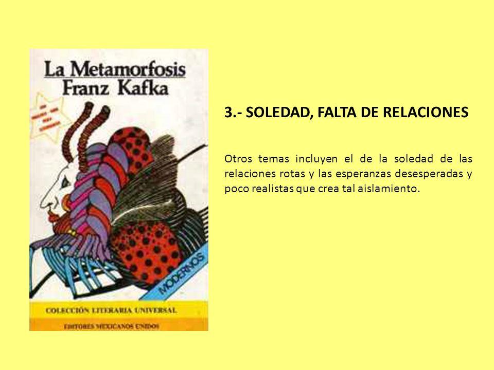 3.- SOLEDAD, FALTA DE RELACIONES
