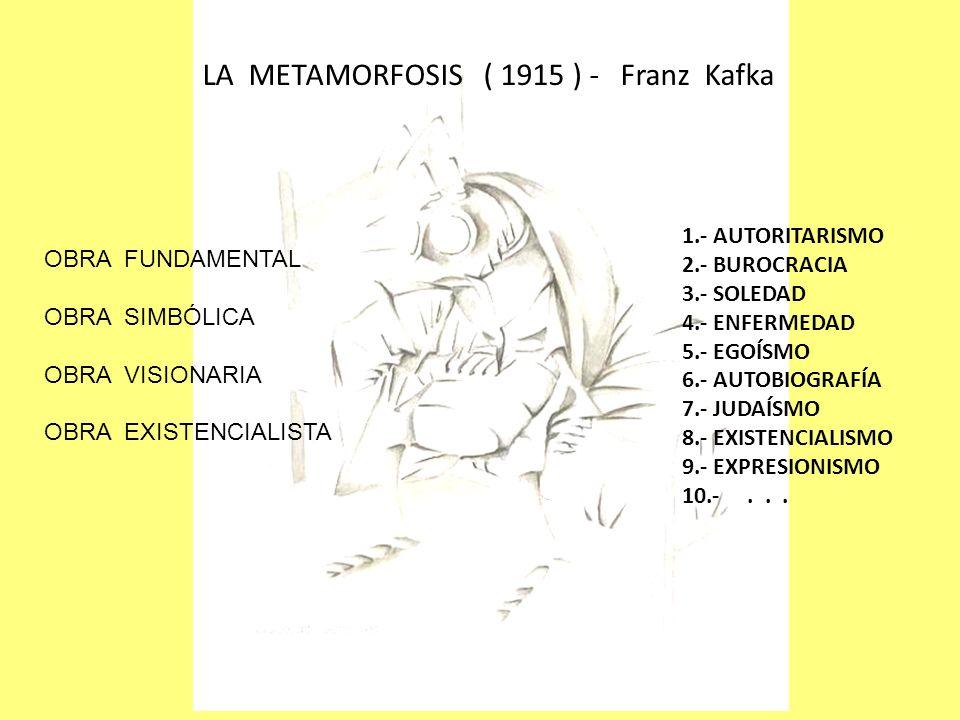 LA METAMORFOSIS ( 1915 ) - Franz Kafka