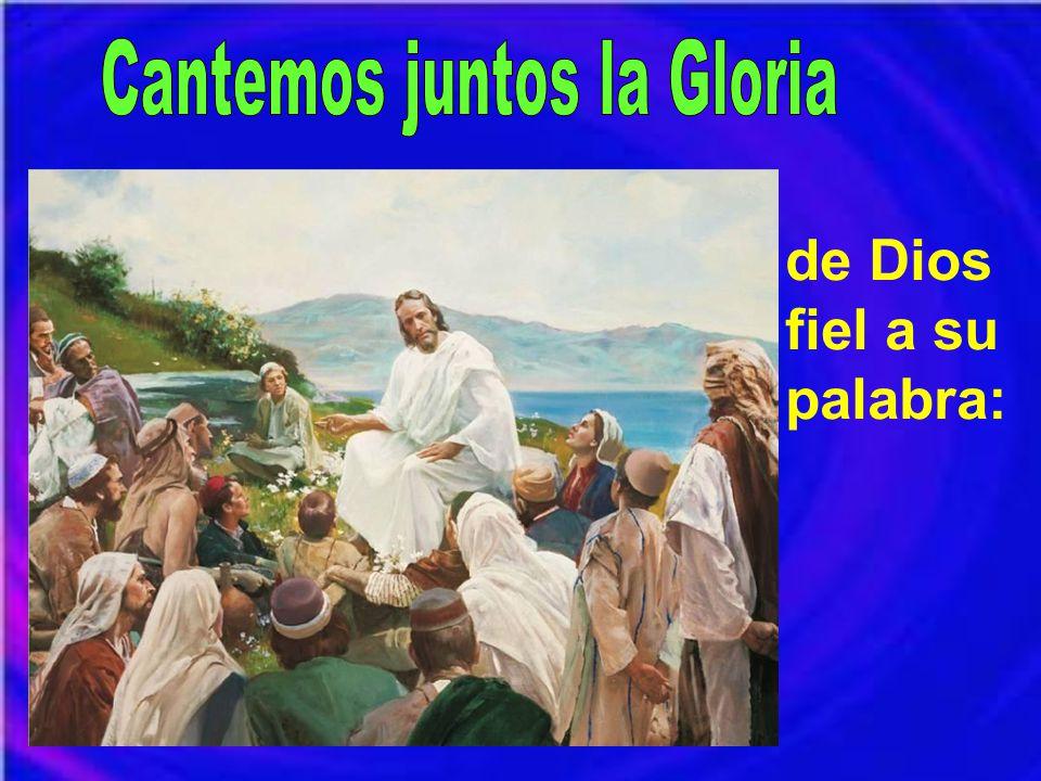 Cantemos juntos la Gloria